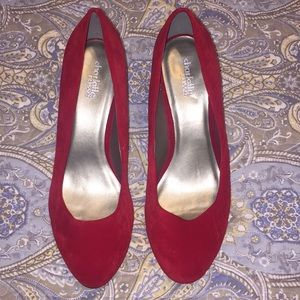 Charlotte Russe Red faux suede pumps